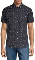 Report Collection Men's Bumble Bee-Print Cotton Button-Down Shirt