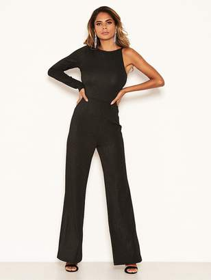 AX Paris Sparkle One Sleeved Jumpsuit - Black