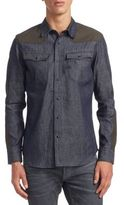 G Star Denim Cotton Casual Button-Down Shirt