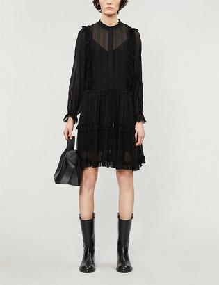 Reiss Justina woven mini dress
