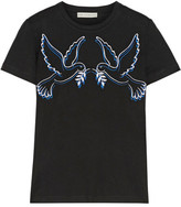 Mary Katrantzou Iven Embroidered Stretch-jersey T-shirt - Black