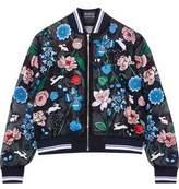 Markus Lupfer Embellished Embroidered Silk-Organza Bomber Jacket