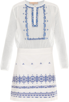 Vanessa Bruno Exo embroidered cotton and linen-blend dress