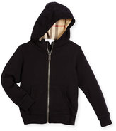 Burberry Pearcy Hooded Jersey Sweatshirt, Black, Size 4-14