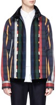 Sacai Check plaid flannel coach jacket