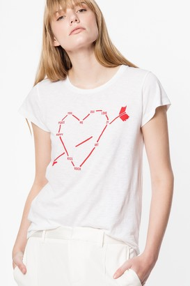 Zadig & Voltaire Skinny Heart Constellation T-shirt