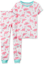 Carter's 2-Pc. Dino-Print Cotton Pajamas, Baby Girls