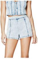 G by Guess GByGUESS Women's High-Rise Side-Zipper Denim Shorts