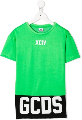 Gcds Kids logo T-shirt dress