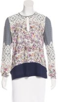 Yigal Azrouel Printed Crepe Top