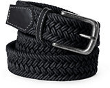 Lands' End Men's Regular Waxed Braided Belt-Gray Heather Feeder Stripe