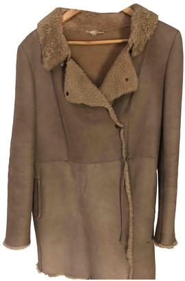 BA&SH Bash Beige Shearling Coat for Women