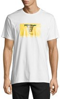 Public School Snake Flag Graphic T-Shirt, White
