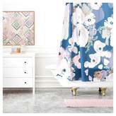 DENY Designs Khristian A Howell Une Femme In Blue Shower Curtains