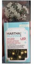 Martha Stewart Living 24 Christmas Led Snowflake Lights Clear Mini Strand Battery-operated