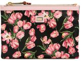 Dolce & Gabbana Tulips Printed Nylon Pouch