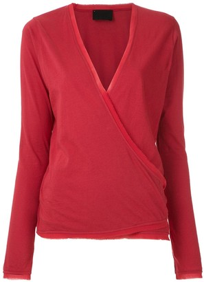 Andrea Bogosian Long Sleeved Wrap Blouse