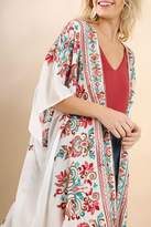 Umgee USA Multicolor Embroidered Kimono