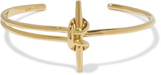 Noir 14-karat Gold-plated Cuff