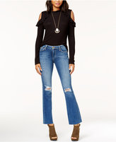 Joe's Jeans Provocateur Raw-Hem and Ripped Bootcut Jeans