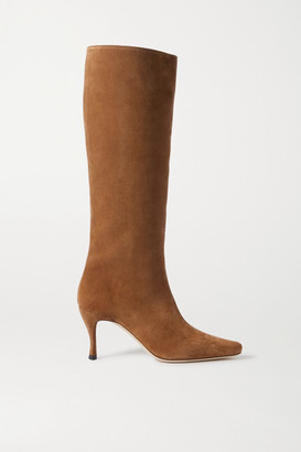 BY FAR Stevie Suede Knee Boots - Brown