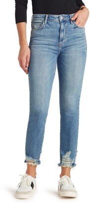 Sam Edelman The Stiletto Destroyed Hem Skinny Straight Leg Jeans