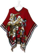 DSQUARED2 eagle knit oversized poncho