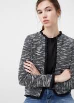 MANGO Jacquard Cotton Jacket