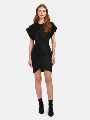IRO Oterma Leather Mini Dress