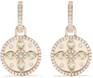 Kiki McDonough 18kt yellow gold Jemima lemon quartz and diamond detachable earrings