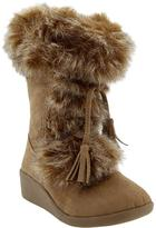 Old Navy Girls Faux-Fur Trim Wedge Boots