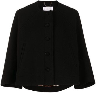 Chloé Cropped Button-Up Jacket