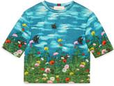 Gucci Children's garden print sweatshirt