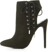 Charlotte Russe Corset Lace-Up Slingback Booties