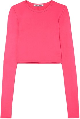Elizabeth and James Desmond Cropped Stretch-jersey Top