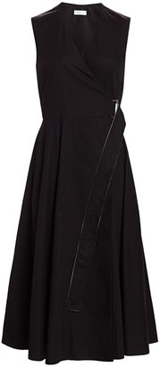 Rosetta Getty Belted Wrap Midi Dress