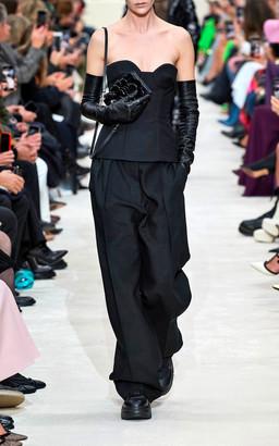 Valentino Strapless Wool-Silk Bustier Top