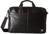 KNOMO London Durham Leather Slim Laptop Briefcase