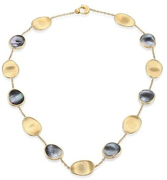 Marco Bicego Lunaria Black Mother-Of-Pearl & 18K Yellow Gold Necklace