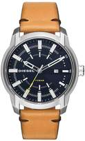 Diesel ARMBAR STAINLESS STEEL LEATHER STRAP GENTS WATCH