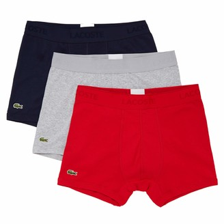 Lacoste Men's Essentials Classic 3 Pack 100% Cotton Trunks