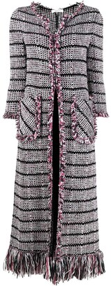 Charlott Long Tweed Cardigan