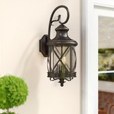 """Tucker Outdoor Wall Lantern Charlton Home Fixture Finish: Rubbed Oil Bronze, Size: 19.5"""" H x 7.5"""" W"""