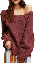 ACHICGIRL Women's off Shoulder Long Sleeve Loose Knitted Sweater