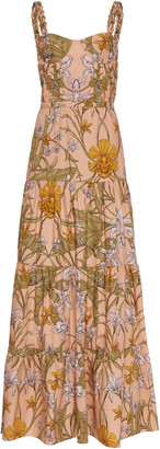 Johanna Ortiz Reflect Beauty Floral Printed Maxi Dress