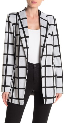 Bagatelle Printed Shawl Collar Blazer