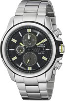 Citizen Men's CA0428-56E AR 2.0 Eco-Drive Stainless Steel Chronograph Black Dial Watch