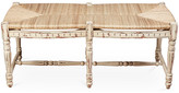 One Kings Lane Betsy Bench - Distressed Beige - frame, distressed beige; seat, wheat