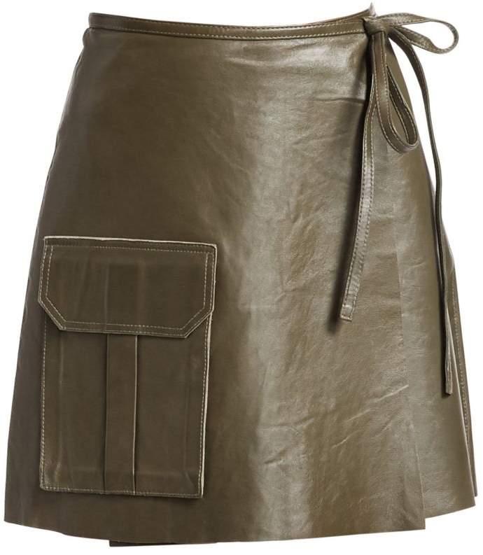7151473af822 Leather Pocket Skirt Pockets - ShopStyle UK