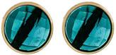 Melinda Maria Hunter Round London Blue Topaz Stud Earrings